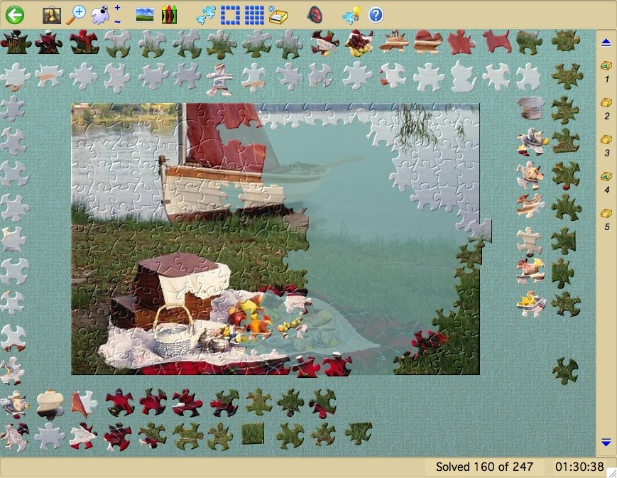 Jigsaws Galore Free Edition Screen shot