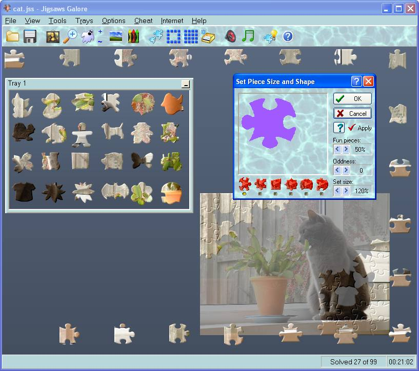 Click to view Jigsaws Galore 6.13 screenshot